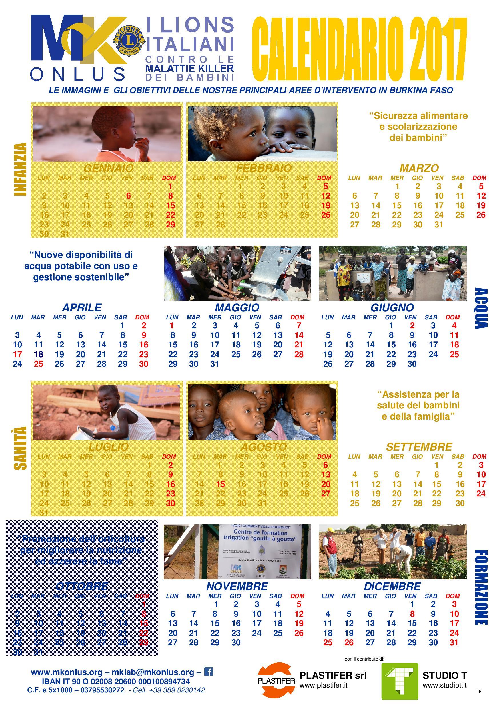 Calendario Vita E Salute.Un Calendario Nella Rivista Lion Mk Onlus